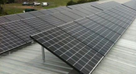 Solar panels on our roof