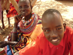 Lmesinae and his mother, Nkuuni, after surgery, Baragoi Kenya.
