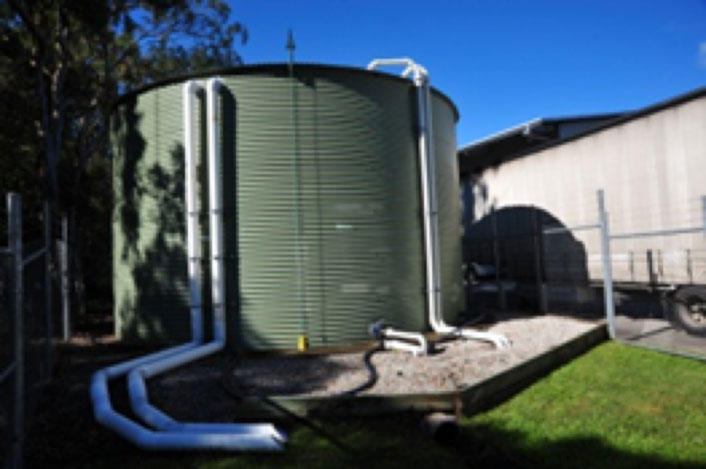192,000 litre tank, completed and ready to collect storm water